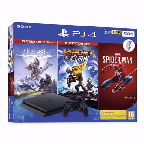 סוני פלייסטיישן  PS4 Playstation 4 Slim 500Gb חבילת הבלעדיים
