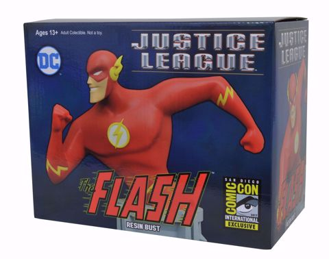 """The Flash 6"""" Bust ComicCon Exclusive פסל באסט הפלאש"""