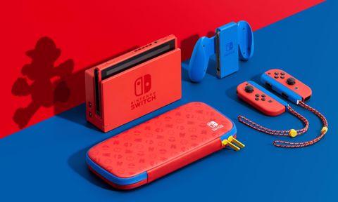 נינטנדו סוויץ (1.1)  Nintendo Switch V2 Mario Limited Edition
