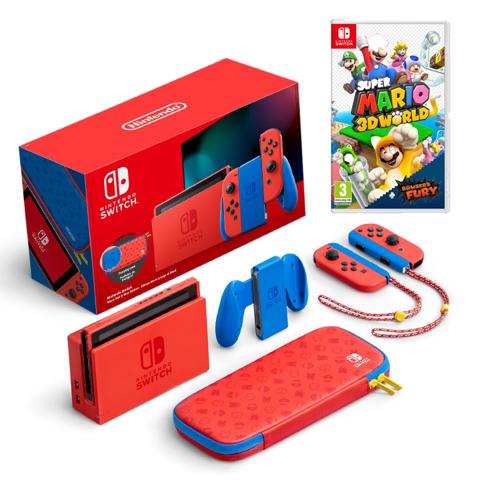 נינטנדו סוויץ (1.1)  Nintendo Switch V2 Mario Limited Edition חבילת מריו