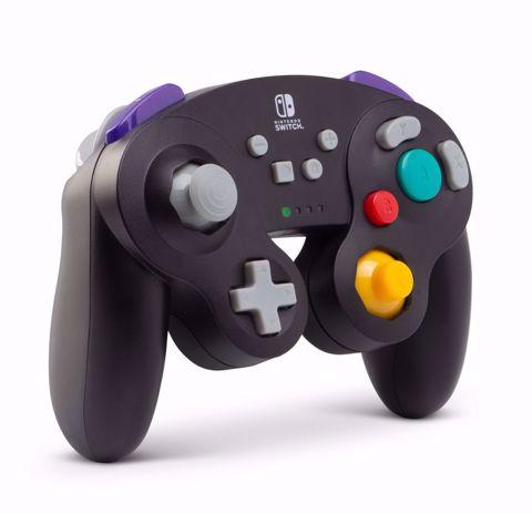 בקר אלחוטי שחור GameCube בעיצוב רטרו Power A
