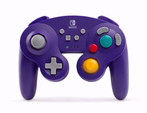 בקר אלחוטי סגול GameCube בעיצוב רטרו Power A