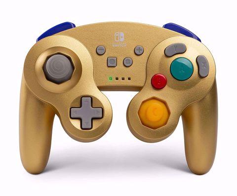 בקר אלחוטי זהב GameCube בעיצוב רטרו Power A