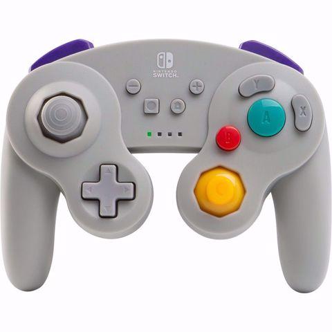 בקר אלחוטי אפור GameCube בעיצוב רטרו Power A