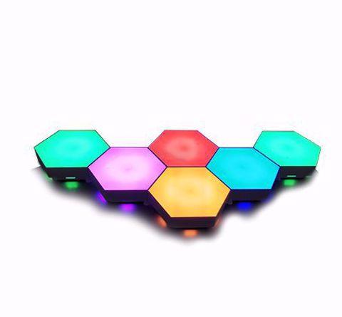 לבני תאורה דקורטיביים DRAGON שינוי באמצעות טא'צ דגם HAXON LED TOUCH STDRA-LHEX-TO