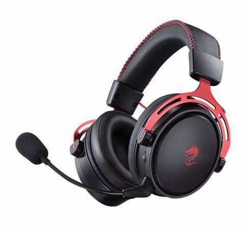 אוזניות גיימינג אלחוטיות DRAGON דגם TITANIUM WIRELESS  בצבע אדום