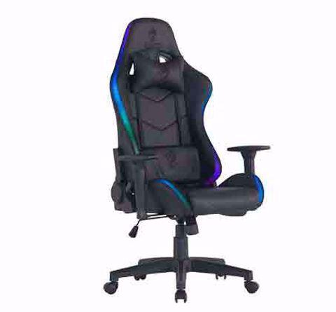 כסא גיימינג מדגם Dragon Space עם תאורת RGB שחור
