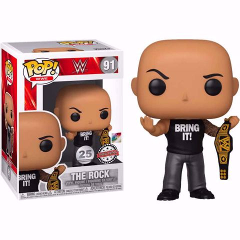 בובת פופ   היאבקות   Funko Pop - The Rock SE (WWE) 91