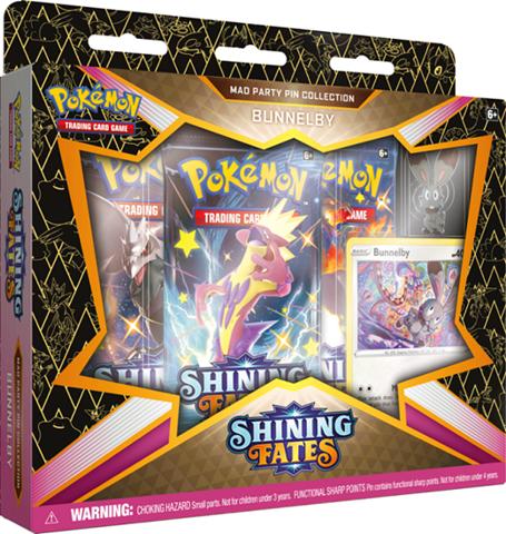 קלפי פוקימון | מארז פין בוקס  פוקימון | מארז קלפים Pokemon Shining Fates Pin Box