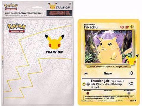 קלפי פוקימון |  פיקצ'ו | אלבום ל-30 קלפים Pokémon 25th Anniversary Binder