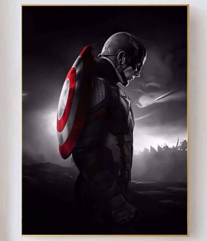 פוסטר קנבס Canvas  Captain America